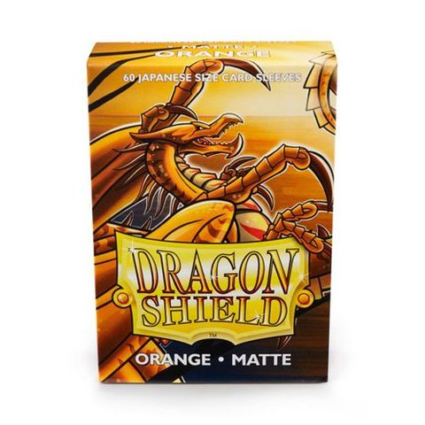 Dragon Shield Sleeves: Japanese Matte Orange (Box Of 60)