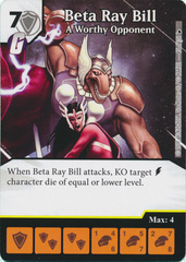 Beta Ray Bill - A Worthy Opponent (Card and Die Combo) Foil
