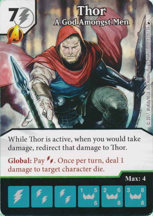 Thor - A God Amongst Men (Card and Die Combo) Foil