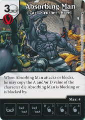 Absorbing Man - Carl ''Crusher'' Cree (Die and Card Combo)