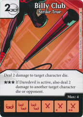 Billy Club - Strike True (Die and Card Combo)