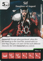 Sif - Daughter of Asgard (Die and Card Combo)