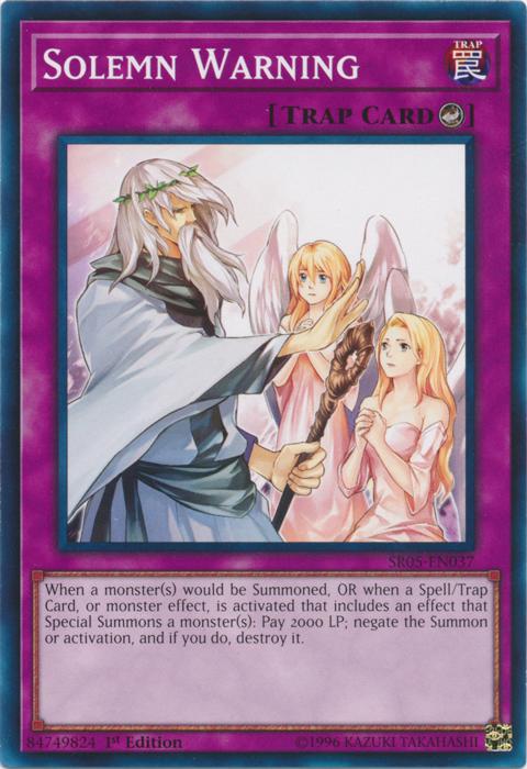 Solemn Warning - SR05-EN037 - Common - 1st Edition