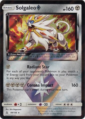 Solgaleo Prism - 89/156 - Holo Rare
