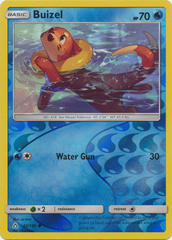 Buizel - 35/156 - Common - Reverse Holo on Channel Fireball