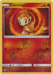 Chimchar - 20/156 - Common - Reverse Holo on Channel Fireball