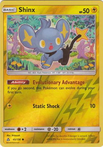 Shinx - 45/156 - Common - Reverse Holo