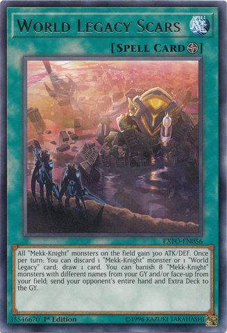 EXFO-EN057 WORLD LEGACY KEY Yu-Gi-Oh Rare Card