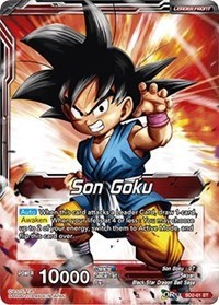 Son Goku // Rising Spirit Super Saiyan Son Goku - SD2-01 - ST