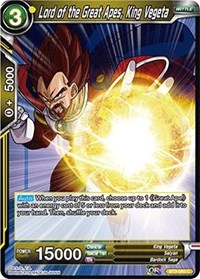 Lord Of The Great Apes King Vegeta Foil Bt3 093 C