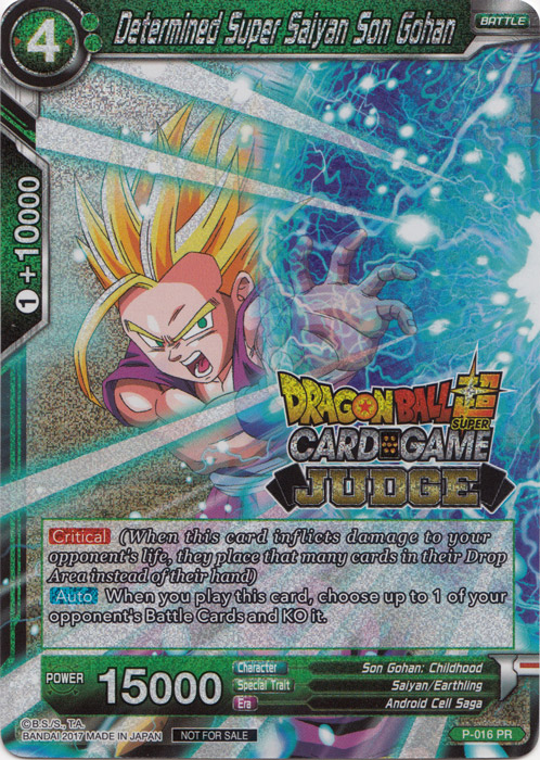 Foil Version - P-016 1 Determined Super Saiyan Son Gohan PR Near Mint