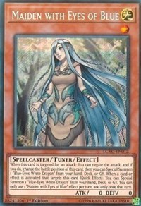 YUGIOH HOLO CARD PRIESTESS WITH EYES OF BLUE LCKC-EN016 1ST EDITION