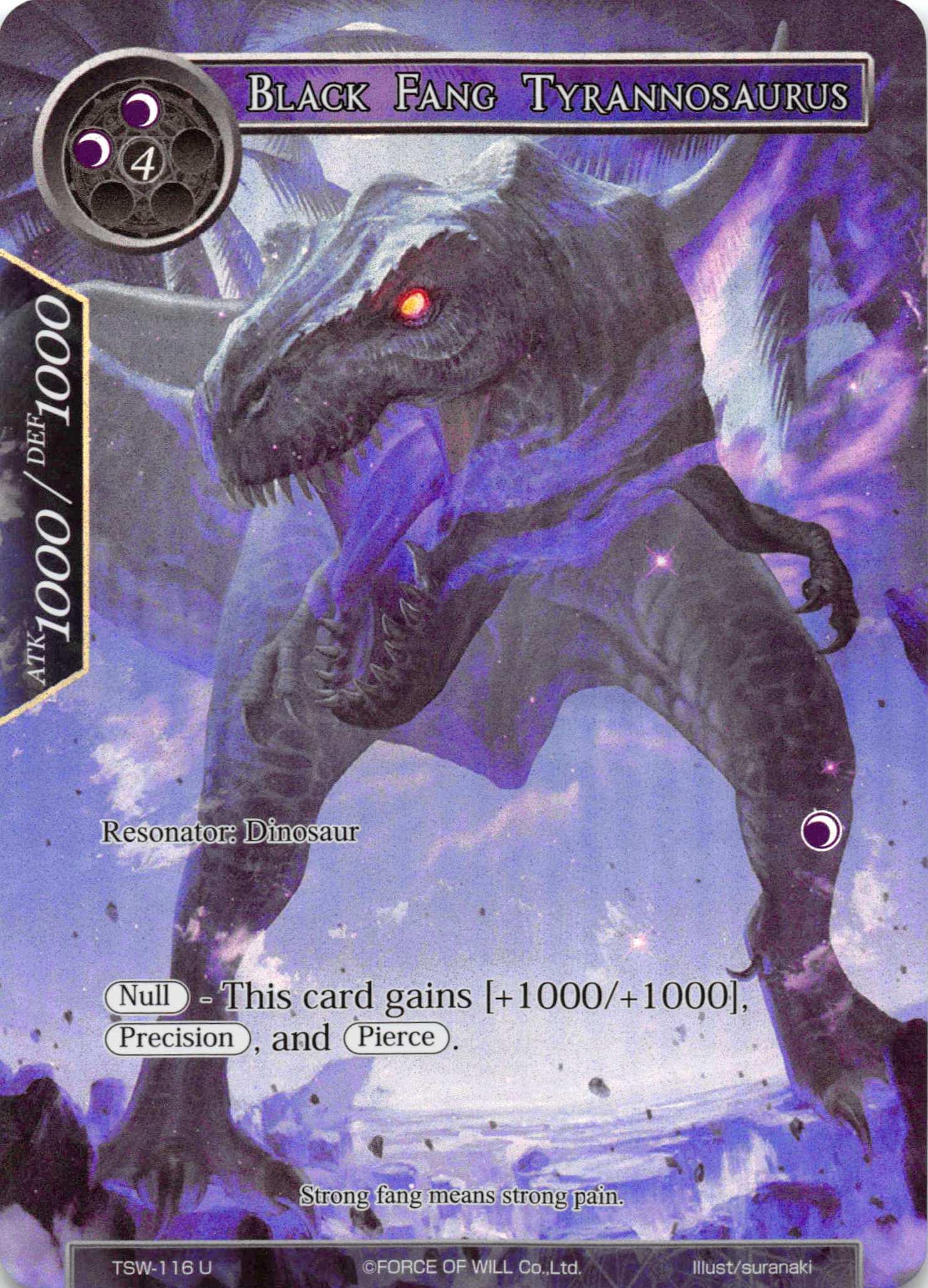 Black Fang Tyrannosaurus (Full Art) - TSW-116 - U