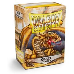 Dragon Shield Box of 100 in Matte Gold on Channel Fireball