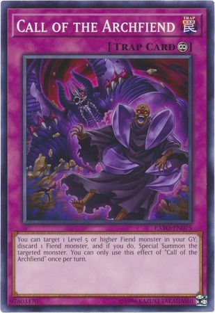 Call of the Archfiend - EXFO-EN075 - Common - Unlimited Edition