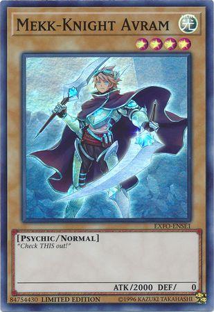 Mekk-Knight Avram - EXFO-ENSE1 - Super Rare - Limited Edition