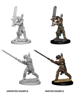 Pathfinder Battles Unpainted Minis - Female Human Barbarian (W6)