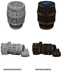 Pathfinder Battles Unpainted Minis - Barrel And Pile Of Barrels