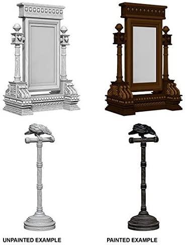 WizKids Deep Cuts Unpainted Miniatures: W5 Mirror & Bird on Stand