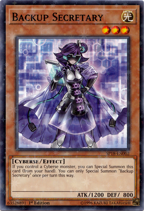 Backup Secretary - SP18-EN002 - Starfoil Rare - 1st Edition