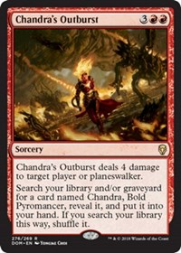 Chandras Outburst - Planeswalker Deck Exclusive