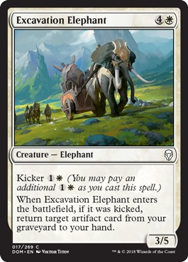 excavation elephant trading card games card singles magic