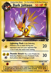 Dark Jolteon - 38/82 - Uncommon - 1st Edition on Channel Fireball