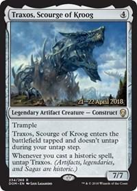 Traxos, Scourge of Kroog - Foil - Prerelease Promo