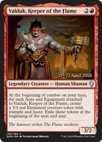 Valduk, Keeper of the Flame - Foil - Prerelease Promo