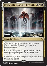 Primevals Glorious Rebirth - Foil - Prerelease Promo