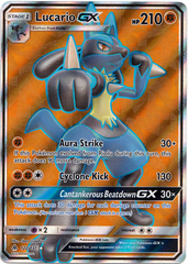 Lucario GX - 122/131 - Full Art Ultra Rare