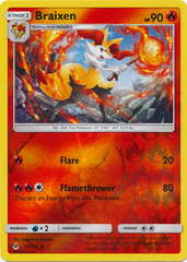 Braixen - 16/131 - Uncommon - Reverse Holo on Channel Fireball