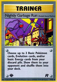 Nightly Garbage Run - 77/82 - Uncommon - 1st Edition