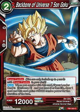 Backbone of Universe 7 Son Goku (Foil) - TB1-003 - C