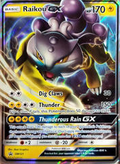 Raikou GX - SM121 - Wave Holo Promo - Legends of Johto GX Collection - SM Black Star Promo