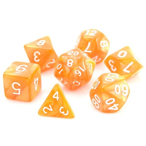 RPG Set - Orange Swirl w/ White