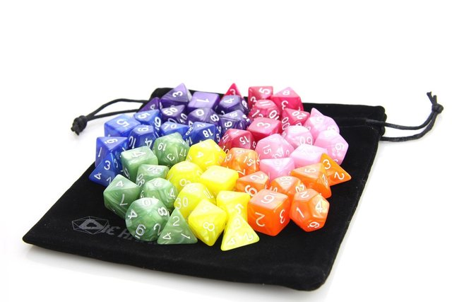 7 Set Rainbow Swirl Bundle + Satin-Lined Velvet Bag