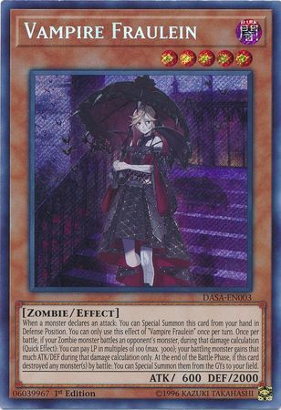 Vampire Fraulein - DASA-EN003 - Secret Rare - 1st Edition