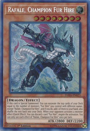 Rafale, Champion Fur Hire - DASA-EN023 - Secret Rare - 1st Edition