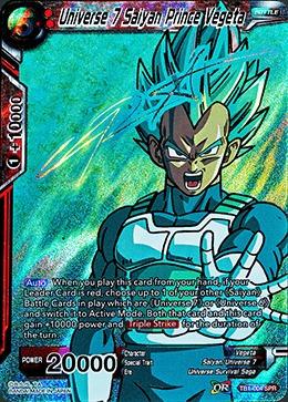 Universe 7 Saiyan Prince Vegeta (SPR) - TB1-004 - SPR