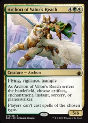 Archon of Valor's Reach on Channel Fireball