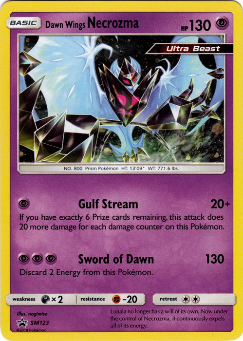 Dawn Wings Necrozma - SM123 - Holo Promo