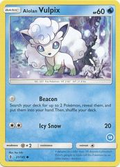 Alolan Vulpix - 21/149 - Common (Ninetales deck 14)