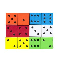 16mm Foam Dice - Set of 12