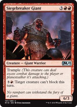 Siegebreaker Giant - Foil