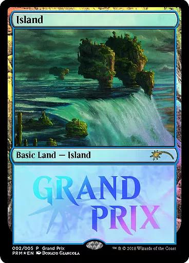 Island - Foil 2018 Grand Prix Promo