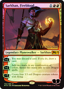 Sarkhan, Fireblood (M19 Prerelease Foil) 7-8 July 2018