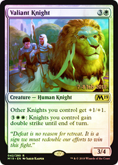Valiant Knight (Core Set 2019 Prerelease Foil)