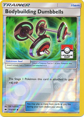 Bodybuilding Dumbbells - 113/147 - Reverse Holo Pokemon League Promo