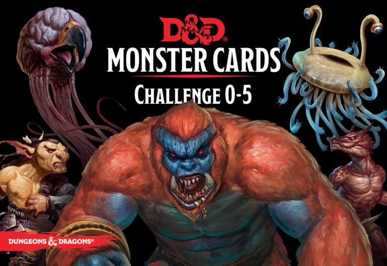 D&D Monster Cards: Challenge 0–5
